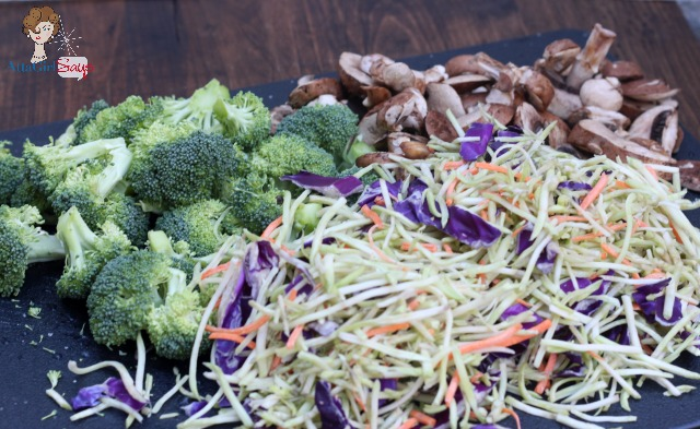 Dinner Tonight: Easy Shirmp & Vegetable Stir Fry with Broccoli Slaw & Cilantro Lime Rice #shop