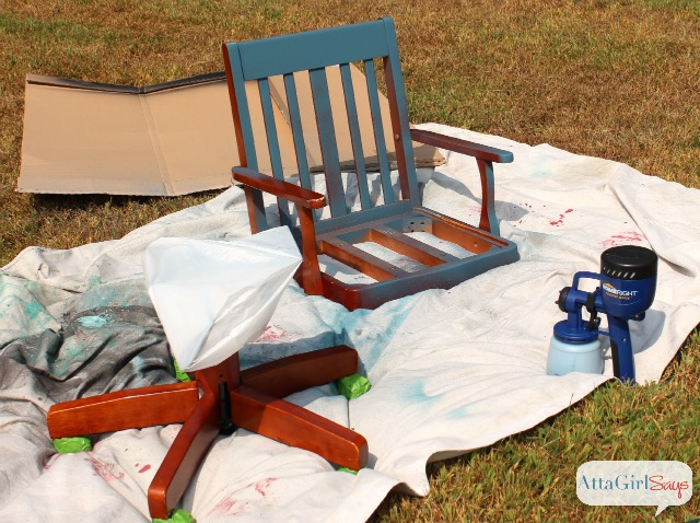 Using a Paint Sprayer with Milk Paint and Chalk Paint