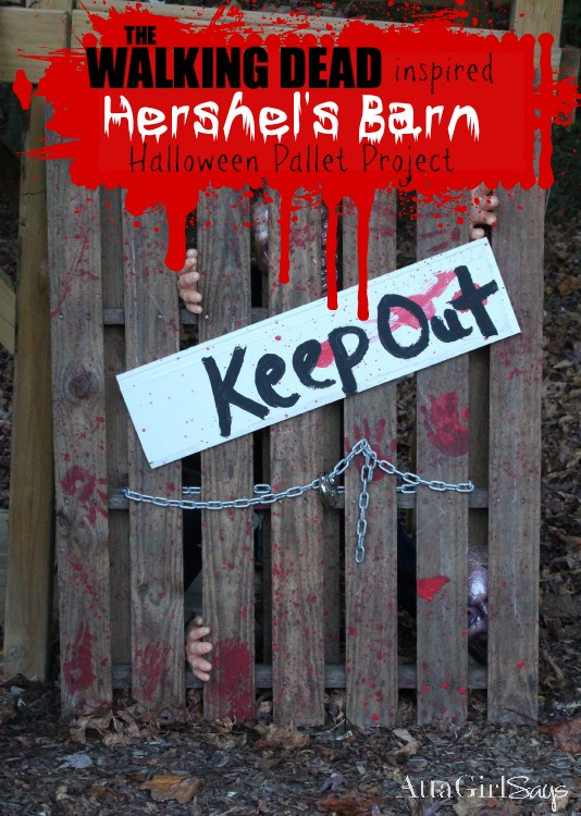 'Walking Dead Halloween Decorations: Hershel's Barn Made out of a Pallet