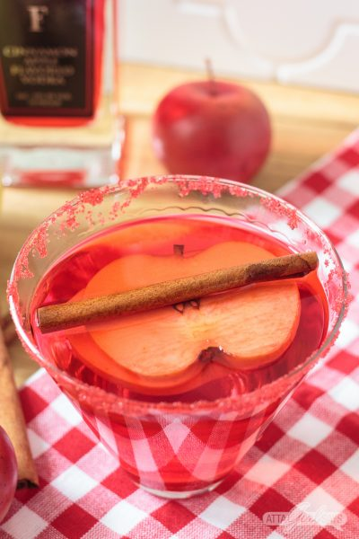 Red Hot Cinnamon Apple Martini