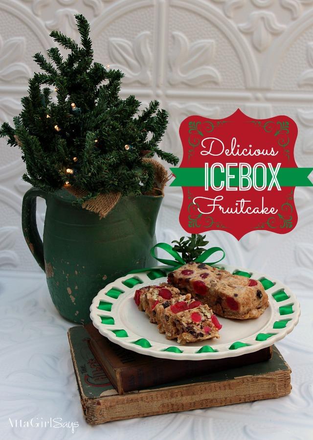 Holiday Baking Party Christmas Icebox Fruit Cake Recipe