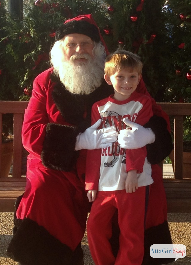 Meeting Santa at Biltmore House