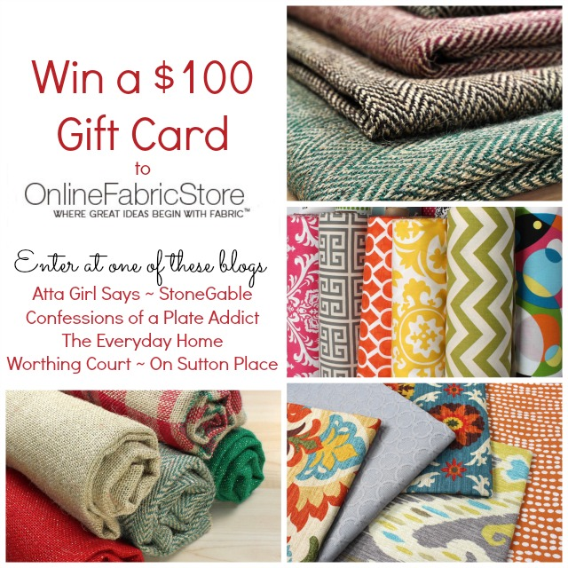 $100 OnlineFabricStore Gift Card Giveaway