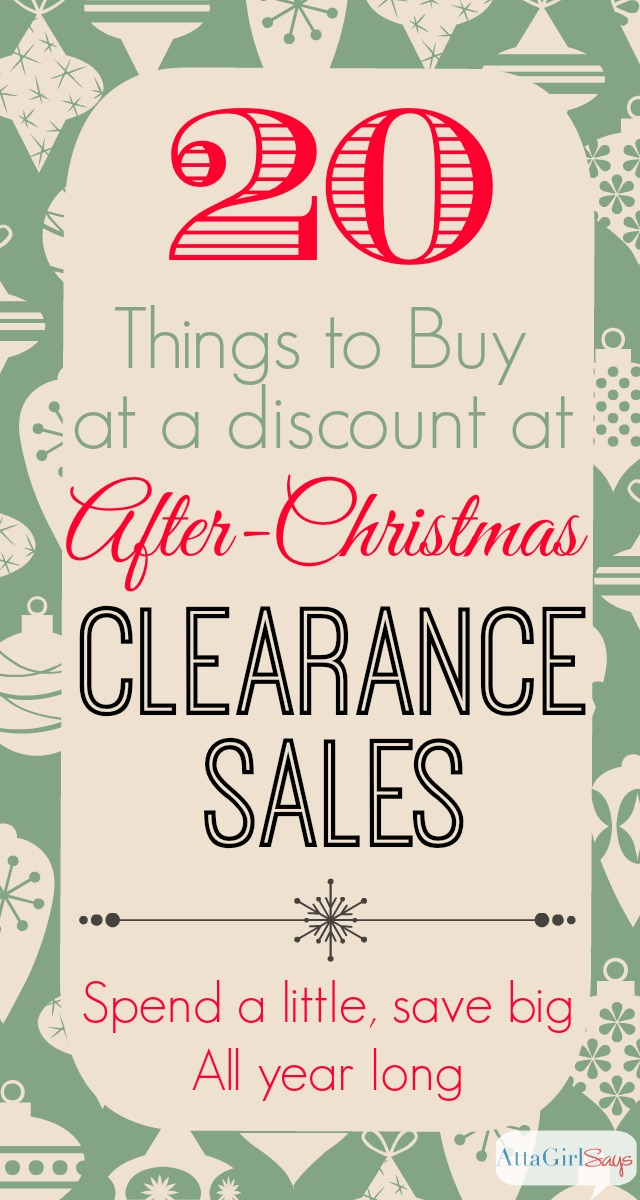 Things to Buy at Day After Christmas Sales