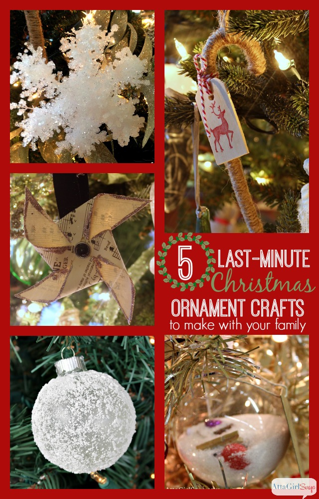 5 Last-Minute Handmade Christmas Ornaments