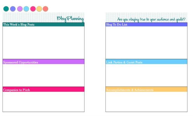 2015 Free Printable Blog Planner and Calendar - Atta Girl Says