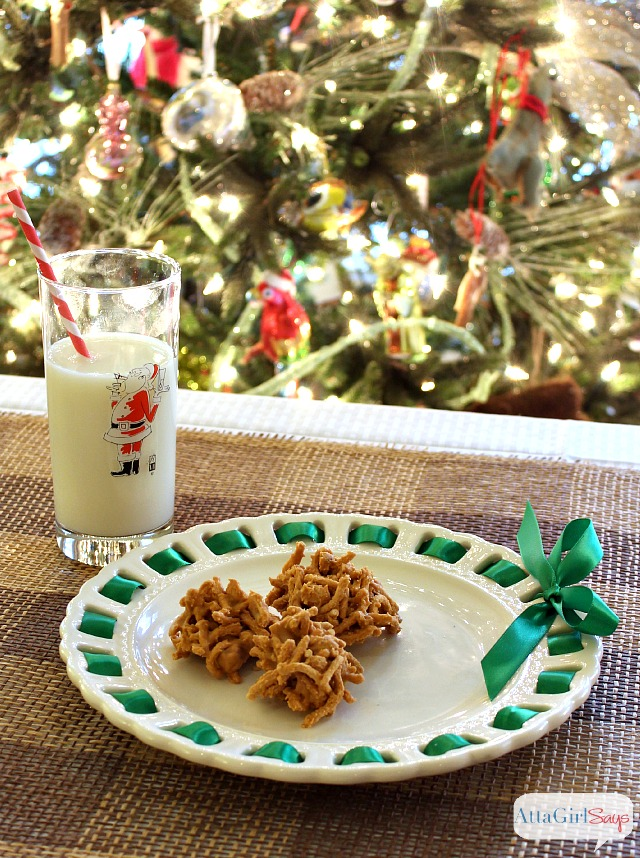 Butterscotch Haystacks + 29 more Christmas Cookie Recipes that are great for homemade food gifts