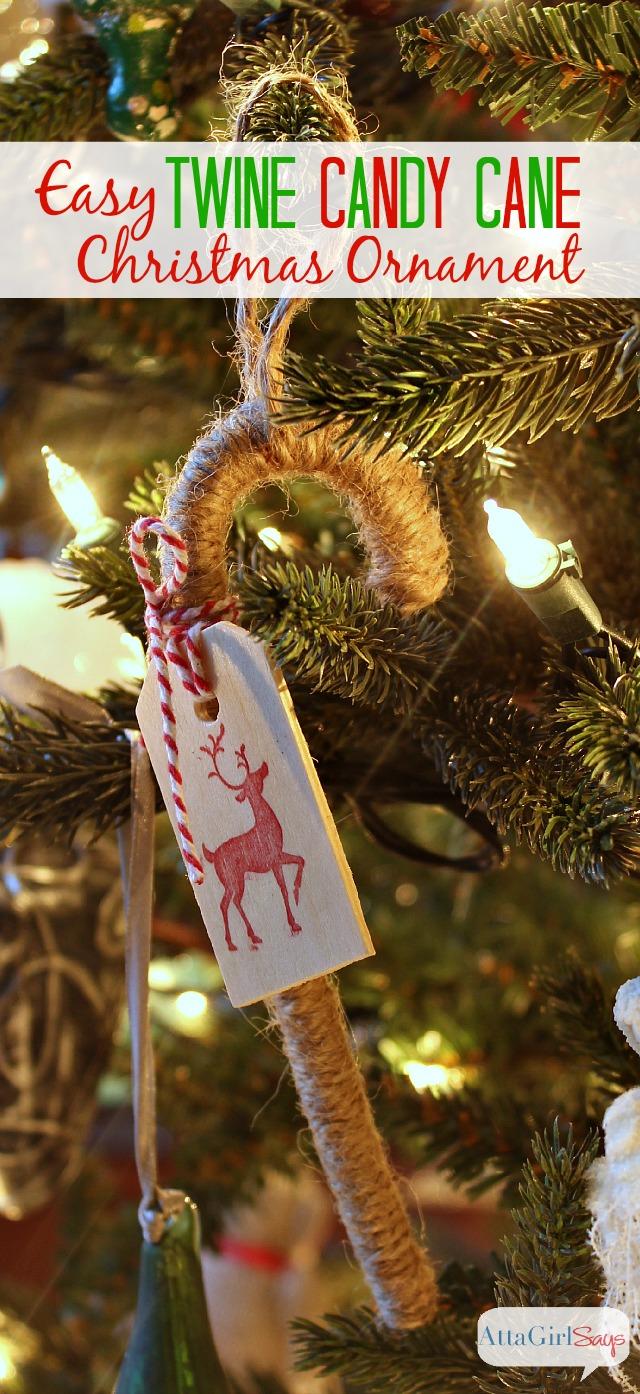 Twine Candy Cane Handmade Christmas Ornaments Atta Girl Says
