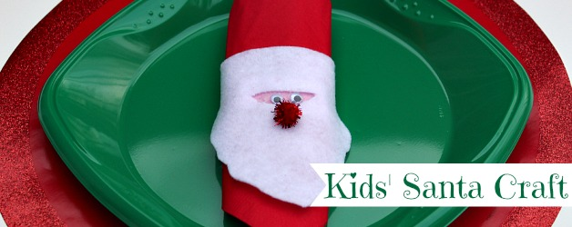 Felt Santa Napkin Rings
