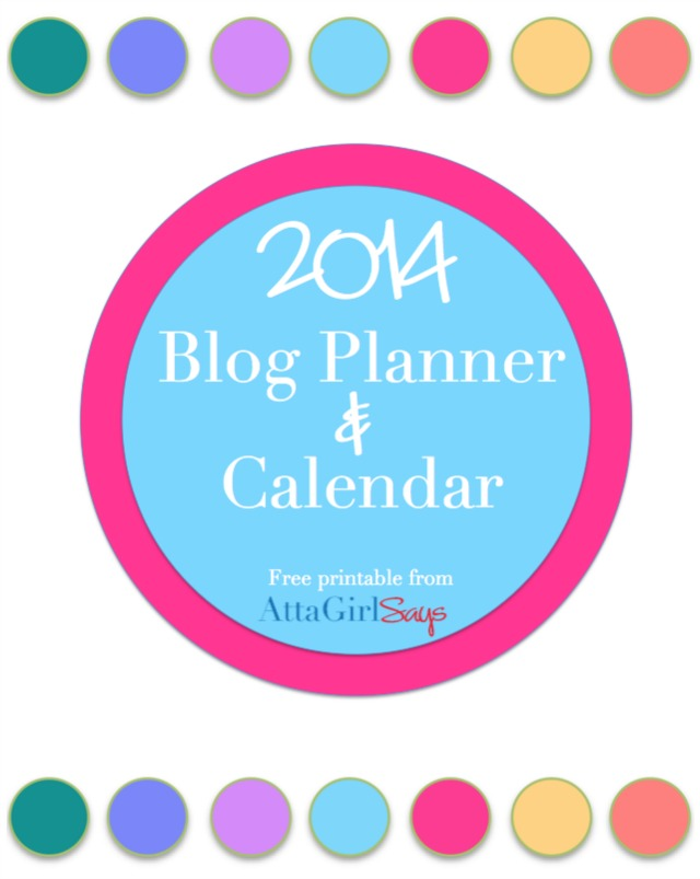 Free Printable Daily Planner Calendar and Blog Planner