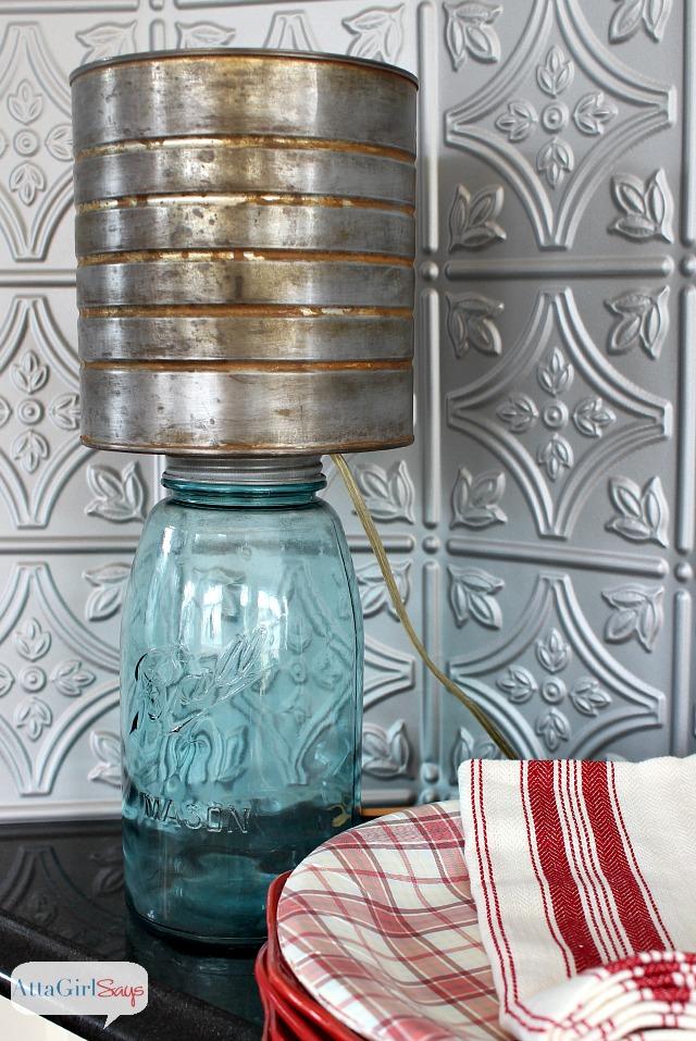 how to make a mason jar lamp shade