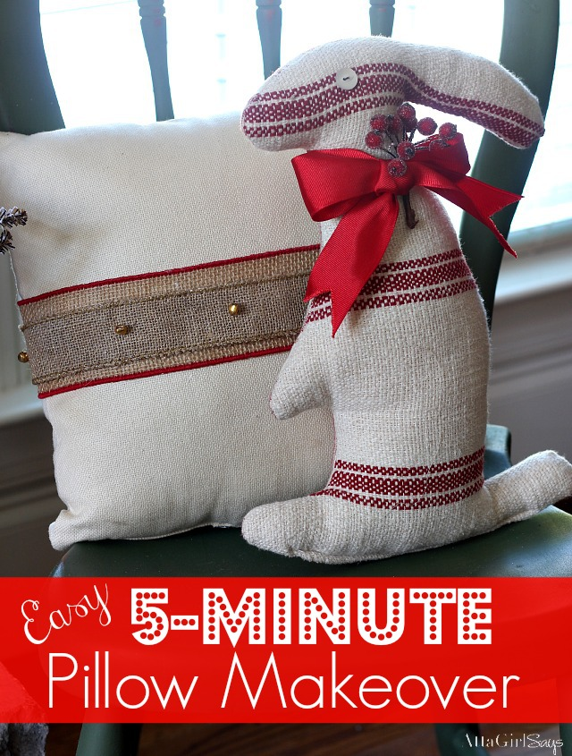5-Minute Pillow Makeover