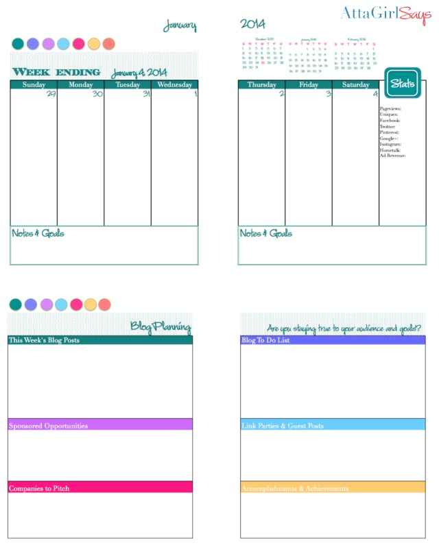 2014 free printable daily planner blog calendar atta Room planner free