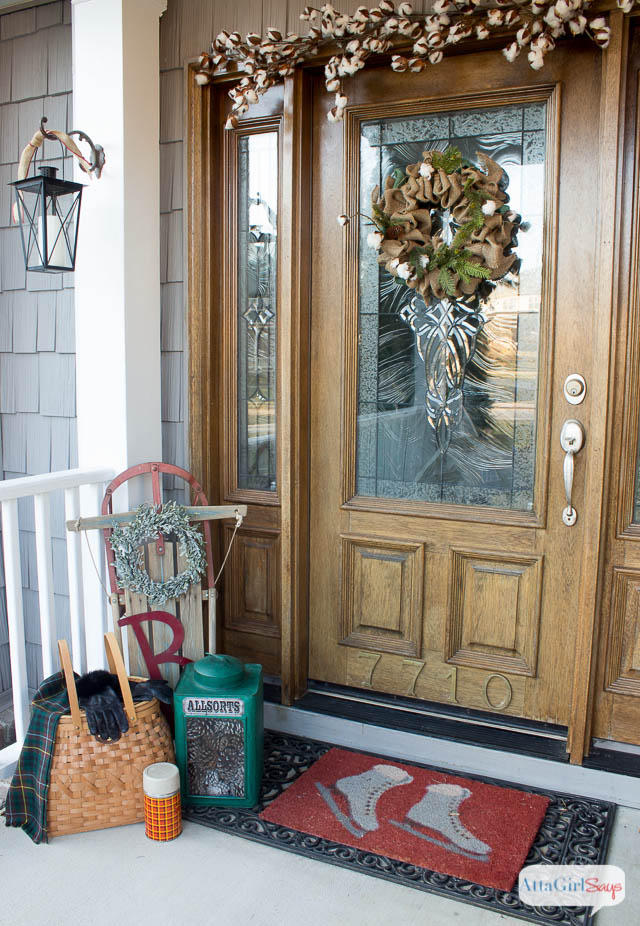 cozy winter decorating ideas for the front porch - atta girl says