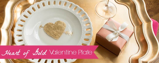 Heart of Gold Valentine Plate & A Love Story