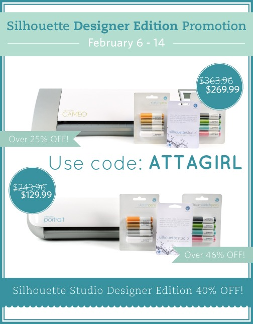 Save on a Silhouette Cameo Or Portrait with code ATTAGIRL