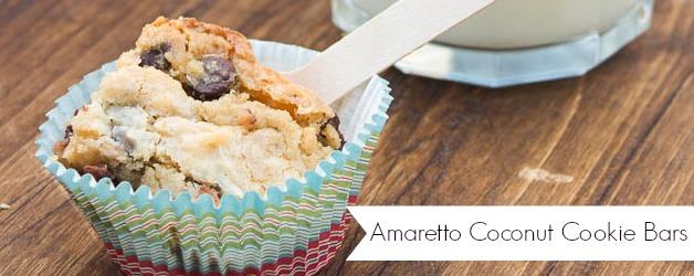 Amaretto Coconut Chocolate Chip Cookie Bars