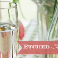 Etched Glass Champagne Flutes
