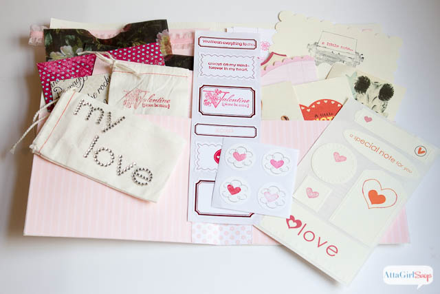When's the last time you sent or received a love note or sent homemade Valentines? I love the idea of creating a love note kit. Never miss an opportunity to tell those you love how you feel about them.