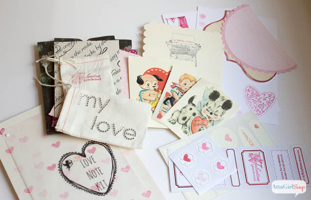 When's the last time you sent or received a love note? I love the idea of creating a love note kit. Never miss an opportunity to tell those you love how you feel about them.  Great idea for homemade Valentines.