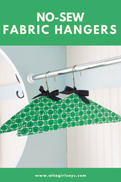 DIY No-Sew Fabric Clothes Hangers