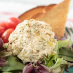 Made using just three simple ingredients, this basic chicken salad is great on a sandwich or atop a bed of lettuce. You can also use it to make bite-sized party appetizers. You can make it using poached chicken, grilled chicken, rotisserie chicken or canned chicken -- whatever you have on hand. #chickensalad #sandwich #lunch