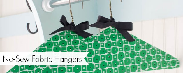 No-Sew Fabric Clothes Hangers