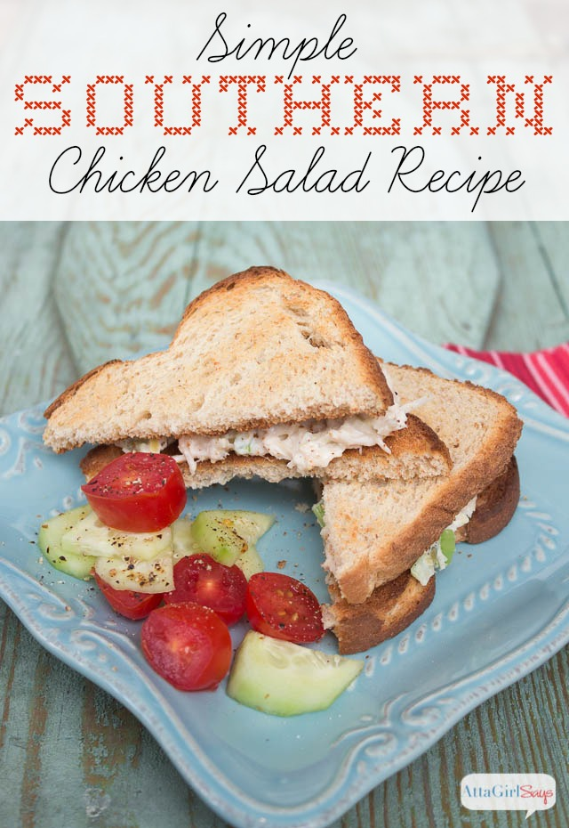 Easy Chicken Salad Recipe: A great southern dish using only 3 ingredients
