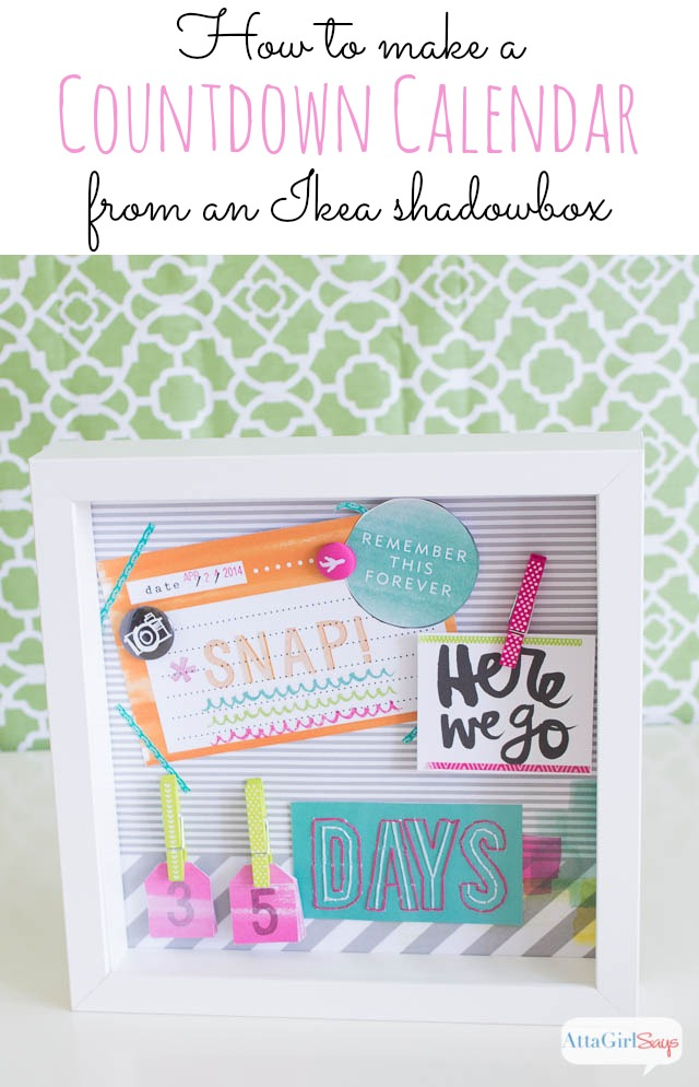 How to Make a Calendar Countdown Craft from an Ikea Ribba Frame