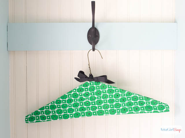 No-Sew Fabric Covered Clothes Hanger