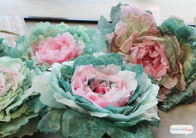 Coffee filter crafts diy spring cabbages atta girl says coffee filter crafts learn how to make these realistic cabbages out of coffee filters mightylinksfo Images