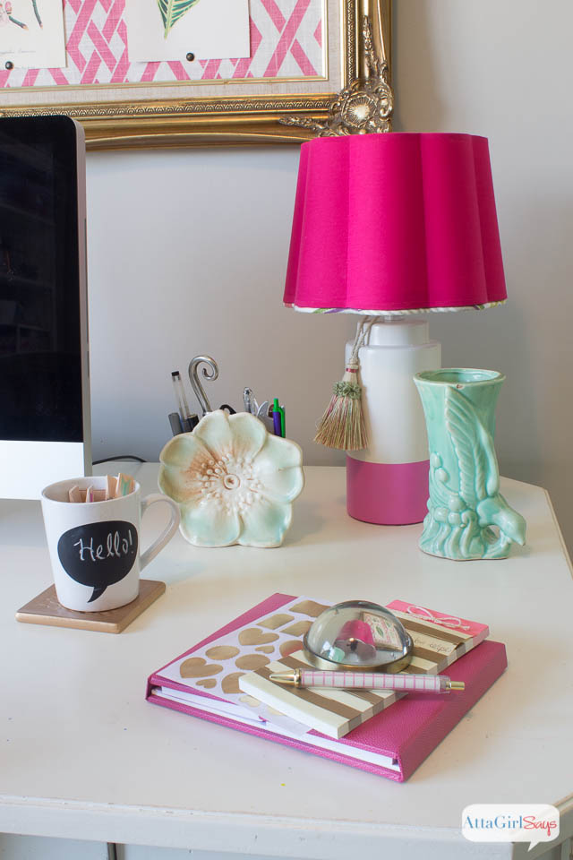 Cute Girly Office Supplies On Craft Room Ideas Home Office Design Makeover