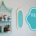 DIY Craft Room Ribbon Organizer and Wall Art