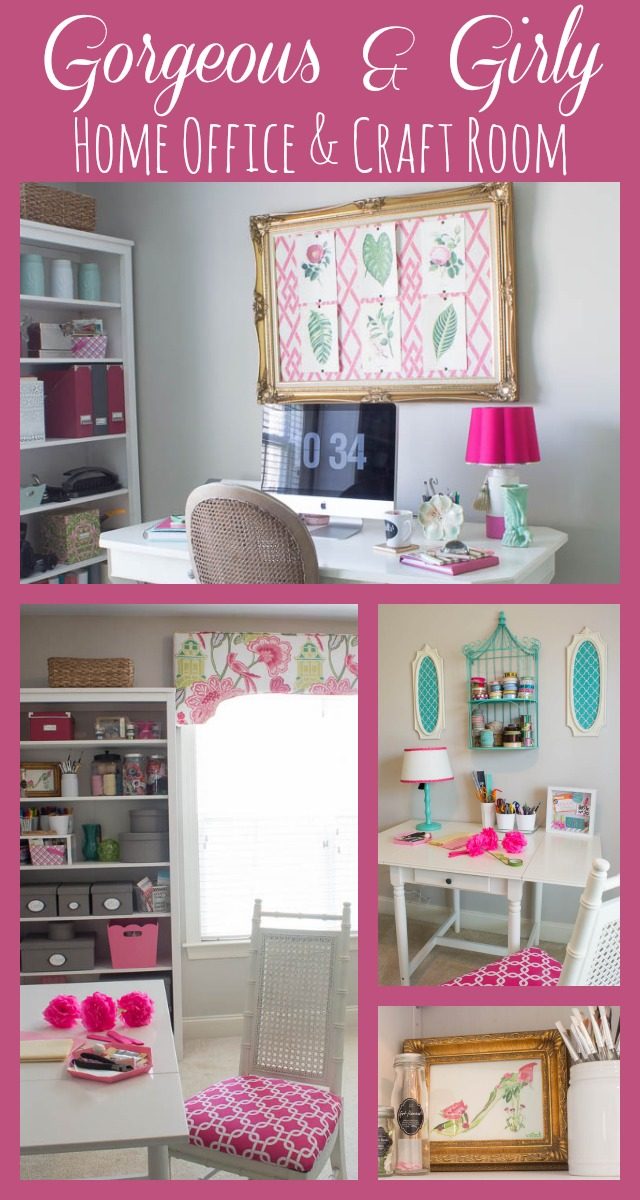 home office ideas craft room makeover. Black Bedroom Furniture Sets. Home Design Ideas
