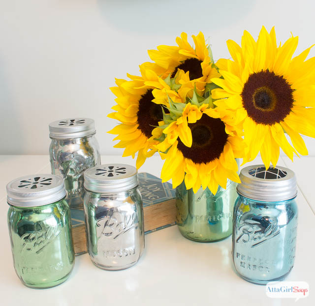 Mirrored mercury glass mason jars other mason jar crafts for Projects to do with mason jars