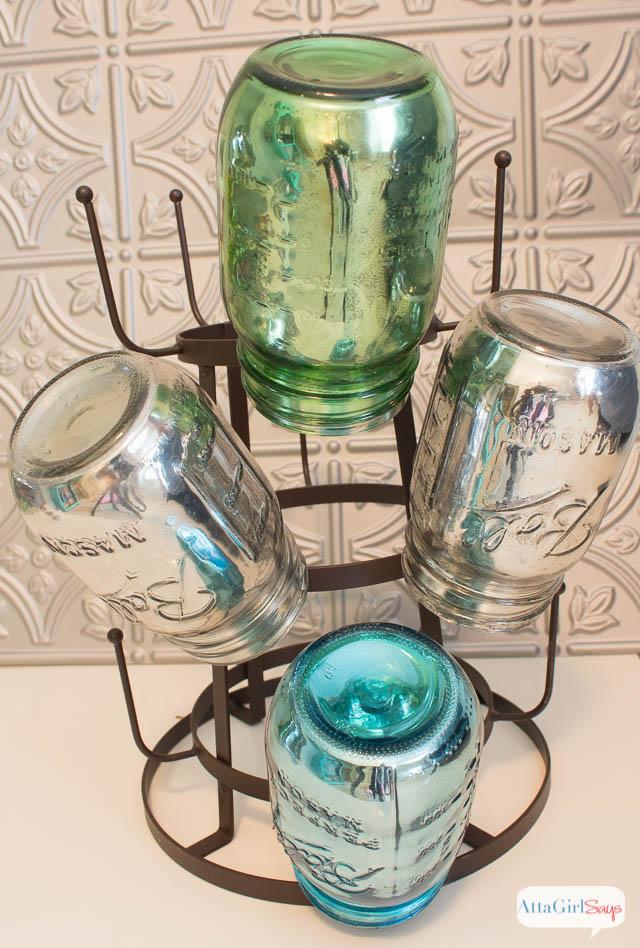 Mirrored Mercury Glass Mason Jar Crafts