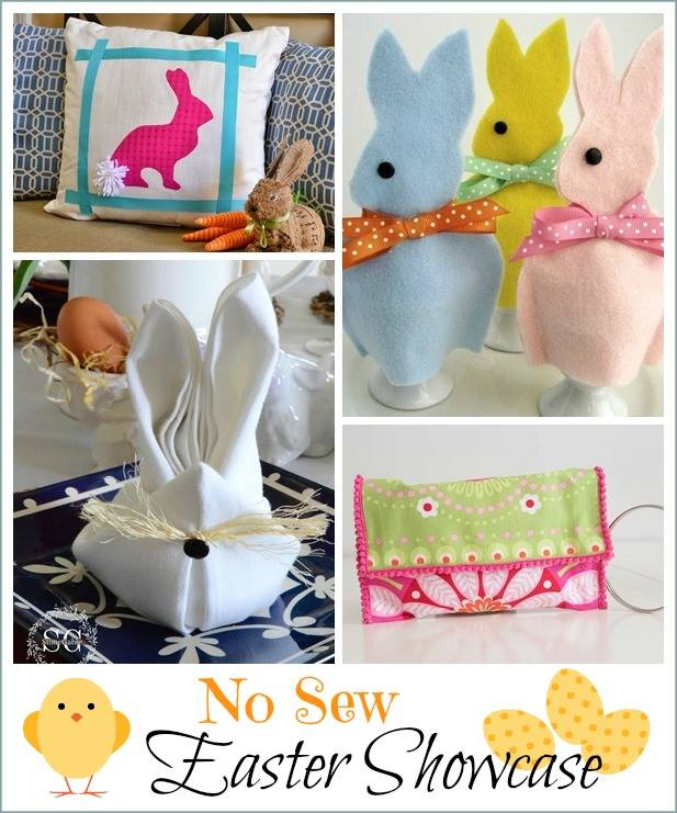 Easter bunny banner no sew pottery barn inspired holiday decor four adorable no sew projects for easter negle Images