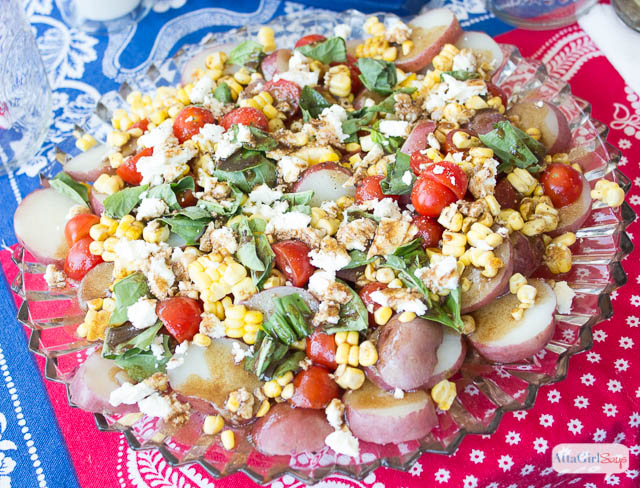Easy Homemade Potato Salad Recipe with Summer Corn & Tomatoes