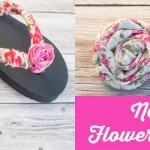 No-Sew Project: Embellished Flower Flip Flops