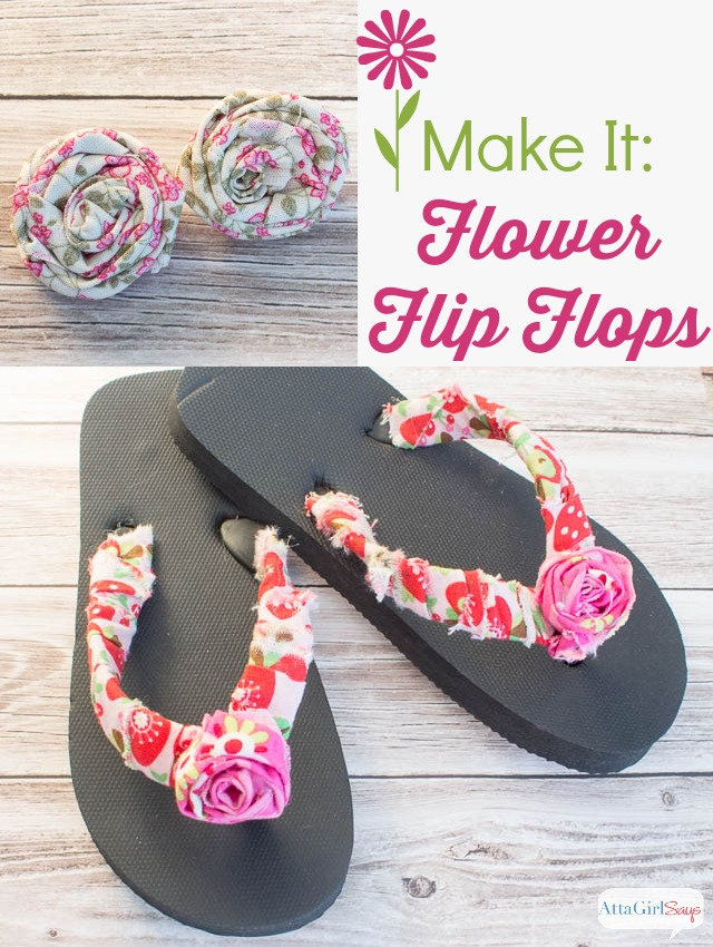 a428219dea3e6 No-Sew Embellished Flower Flip Flops - Atta Girl Says