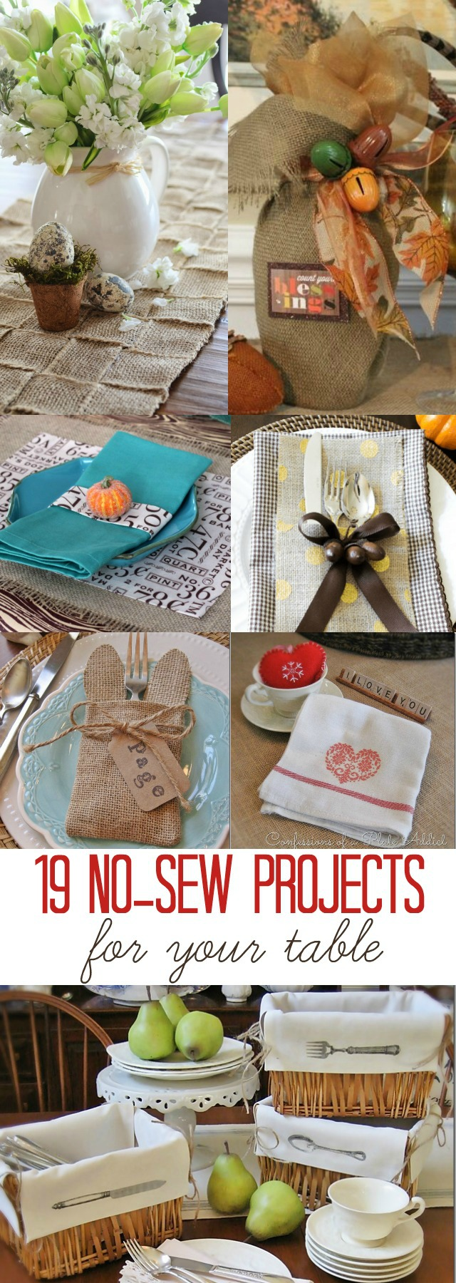 19 No-Sew Craft Projects for Your Table