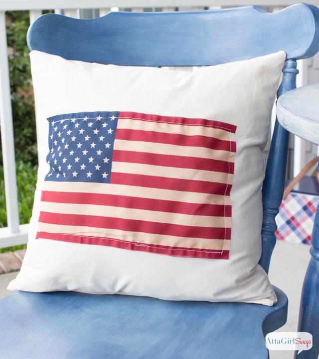 Fantastic DIY American Flag Pillow - Atta Girl Says OJ11