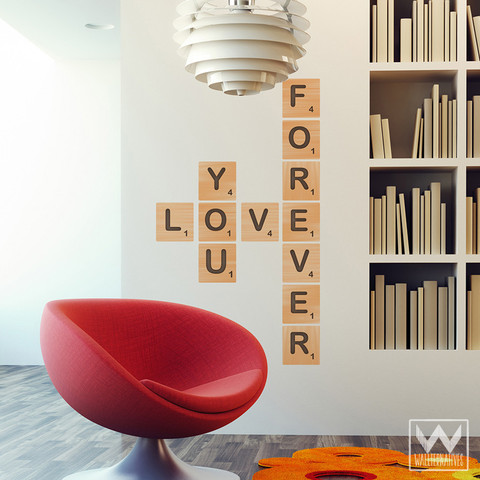 Scrabble Tile Vinyl Wall Decal