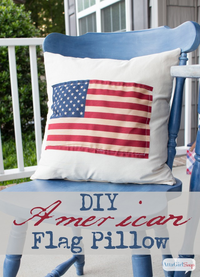 Easy Sew American Flag Pillow