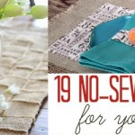 19 No Sew Craft Projects for Your Table