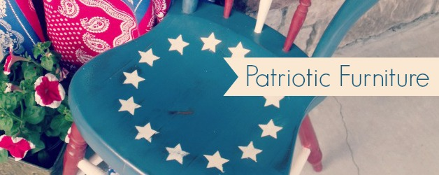 Patriotic Furniture for July 4th