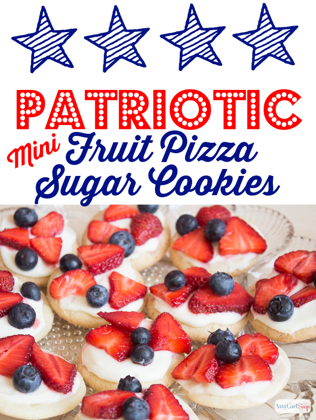 Patriotic Mini Fruit Pizza Recipe