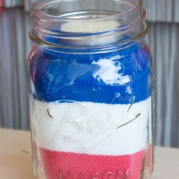 Patriotic American Flag Sand Art