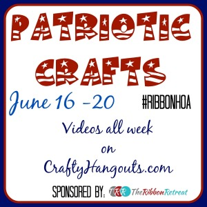 Patriotic Crafts wiht Ribbons #ribbonhoa #craftyhangouts