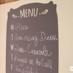 Vinyl Chalkboard Menu from Wallternatives